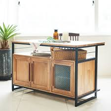 tinwood scandi industrial kitchen island dining table cabinet