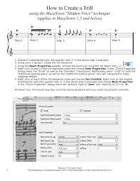 baroque trill styles chart sheet for piano musescore