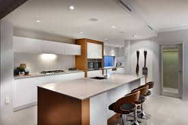kitchen interior white brown wooden cabinet with kitchen island