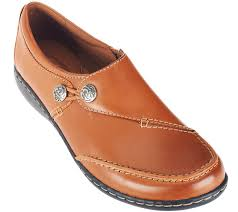 Most Comfortable Clarks Shoes Clarks Leather Slip On Shoes Ashland Lane Page 1 U2014 Qvc Com
