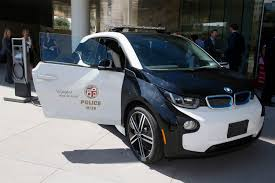 electric cars bmw lapd gets tesla model s bmw i3 electric cars as police cruisers