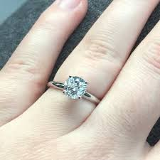 1k engagement rings 1 ct solitaire engagement ring in 14k white gold