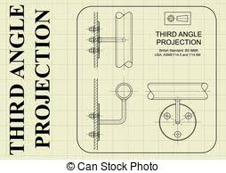 eps vectors of third angle orthographic projection example of