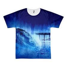 water color wave tee saltwater ink