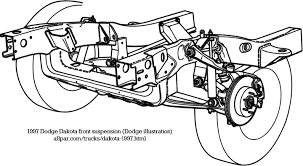2005 dodge dakota front suspension diagram dodge dakota 1997 2004 technical details and specifications