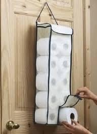 Bathroom Tissue Storage Door Toilet Paper Storage Bag Hanger Roll Organiser Linen