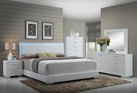 Led Bed Frame Felicity Low Profile Bed With Led Backlight