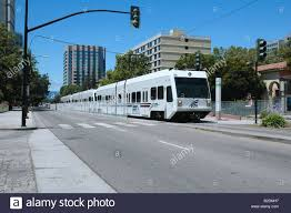 san jose light rail map train station lightrail downtown san jose california stock photo