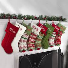 personalized snowflake knit christmas stocking available in 11