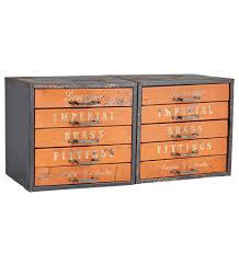 Orange Filing Cabinet Vintage Metal Cabinets Rejuvenation