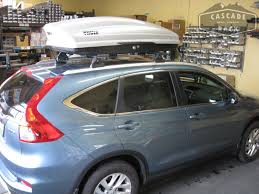 honda crv cargo box cascade rack 2015 honda cr v base rack and cargo box