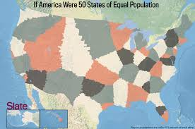 America Map With States by If Every U S State Had The Same Population What Would The Map Of