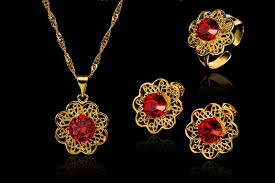 flower necklace earrings images 2018 2016 new hot wholesale 18k gold flower necklace earrings jpg