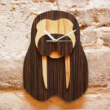 wooden animal wall unique wooden wall clocks shaped like jungle animal heads