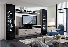 Wohnzimmerschrank Schwarz Wohnwand Silbereiche Schwarz Woody 22 00717 Woody Möbel