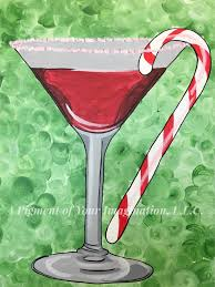 martini glass painting canvas painting gallery