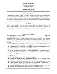 Senior Mortgage Underwriter Resume Cover Letter Underwriter Resume Examples Underwriter Trainer