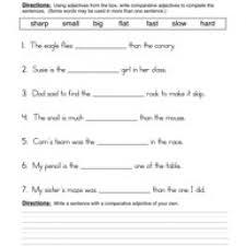 adjective worksheet for kindergarten adjective exercises for