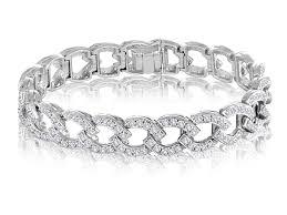 link bracelet with diamonds images Heritage kaspar esh