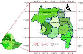Map Of Ethiopia Outlook Of Future Climate In Northwestern Ethiopia