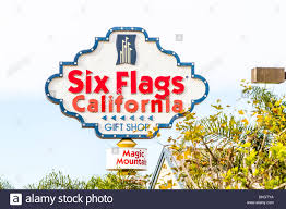 Six Flags Magic Mountain by The Freeway Sign For Six Flags Magic Mountain Stock Photo Royalty