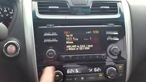 nissan altima 2015 dashboard 2013 nissan altima radio reset youtube