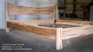 curved bed frame ambrosia maple simple platform bed frame with curved