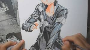 speed drawing kirito from sword art online youtube