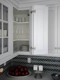 blind corner kitchen wall cabinet ideas maximize corner cabinet space with a retractable door and