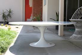 Dining Room Table Base Tulip Table Base Saarinen Style Tulip End Table In White Wood