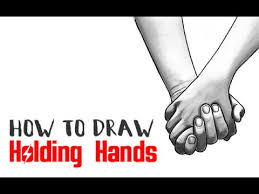 how to draw holding hands intermediate tutorial youtube