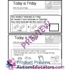 calendar activity booklets for special education