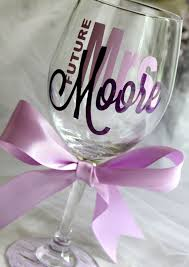 wine glass gifts best 25 bachelorette wine glasses ideas on monogram
