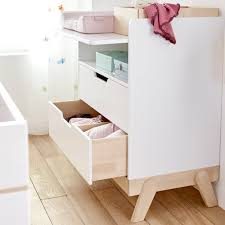 white nursery changing table baby changing unit junior desk in white and birch lifetime