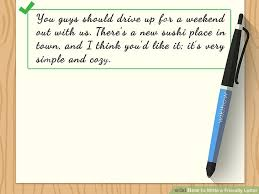 how to write a friendly letter with sample letters wikihow