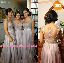 purple lace bridesmaid dresses zuhair murad v neck a line cap sleeve chiffon lace beaded