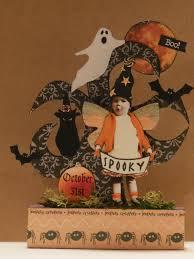 altered art fairy halloween original mixed media collage paper