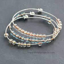 bead bangle bracelet images 2 minute stacking beaded bangle bracelet happy hour projects jpg