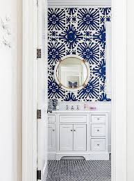 Wallpapered Bathrooms Ideas Best 25 Blue And White Wallpaper Ideas Only On Pinterest Blue