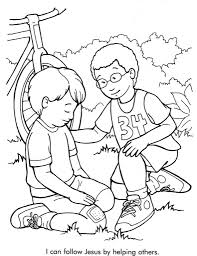 dorcas helps others coloring page for within peter and omeletta me