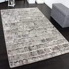 designer teppich teppich steinwand optik grau design teppiche