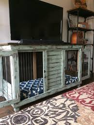 double dog kennel perfect for an entry table tv stand laundry