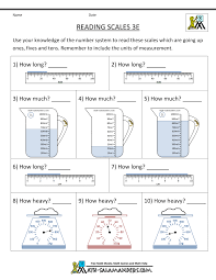 measurement worksheets reading scales 3e math 3rd grade