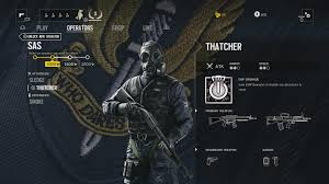 what does siege rainbow 6 siege sas operator guide sledge thatcher smoke mute