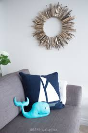 how to make a nautical throw pillow with felt fabric save