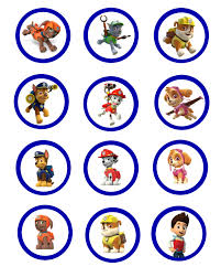 pa patrol cupcake toppers party ideas pinterest paw patrol