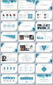 simple business report template 24 simple blue business report powerpoint template the highest