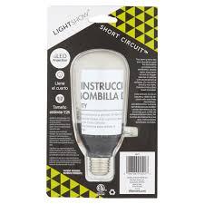 Walmart Led Light Bulbs by Lightshow Classic White Short Circuit Light Bulb Walmart Com
