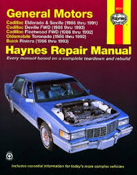 car repair manuals online free 1992 buick riviera lane departure warning cadillac eldorado seville deville and fleetwood olds toronado
