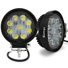 go lights for trucks safego 2pcs 4inch 27w led work light 12v offroad 4x4 car trucks